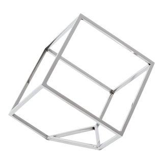 Open Standing Cube in Nickel For Sale
