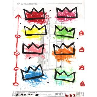 "Pop Art ""Rainbow Royalty"" Original Artwork by Famous Street Artist Gary John For Sale"