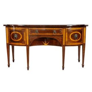 George III Mahogany and Satinwood Sideboard For Sale