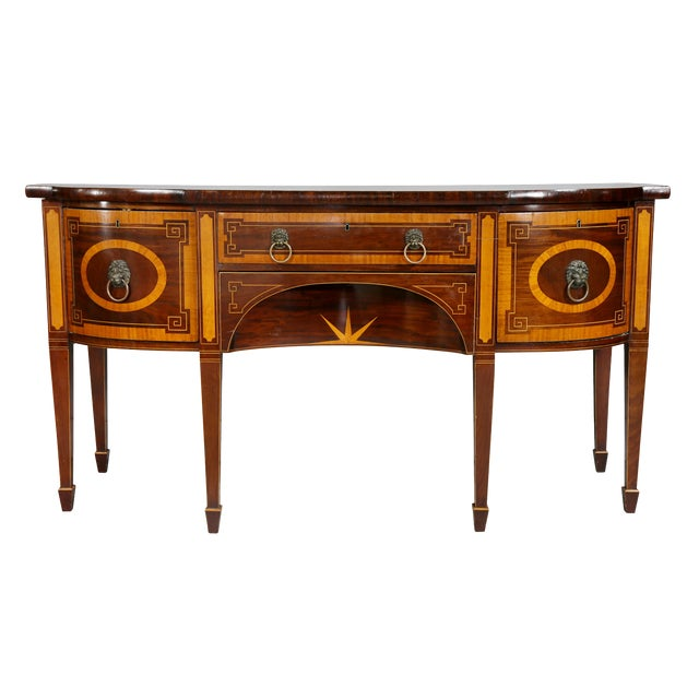 George III Mahogany and Satinwood Sideboard For Sale
