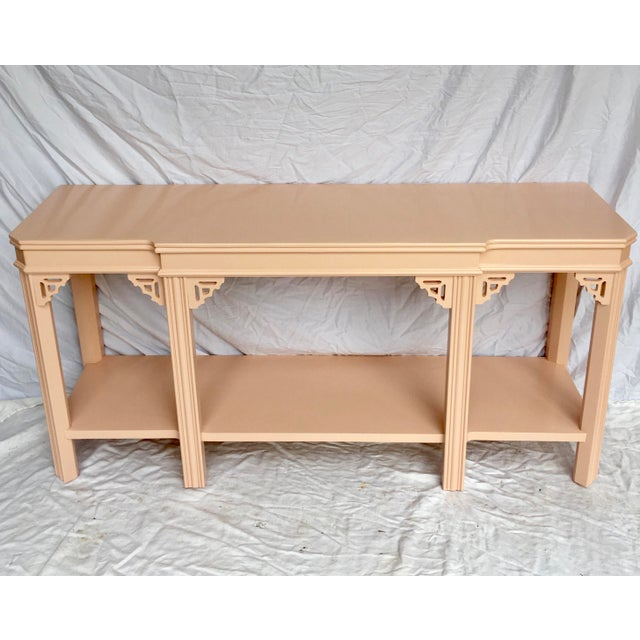 Pink Pink Lacquered Console by Lane For Sale - Image 8 of 8