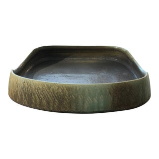 Hand-Built Stoneware Tray by Tyler Gulden For Sale