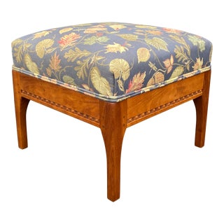 """Charles Shackleton """"Sleigh"""" Ottoman in Cherry For Sale"""