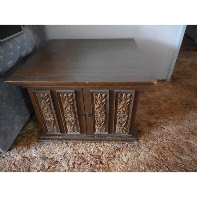 Vintage Carved Walnut End Table - Image 4 of 4