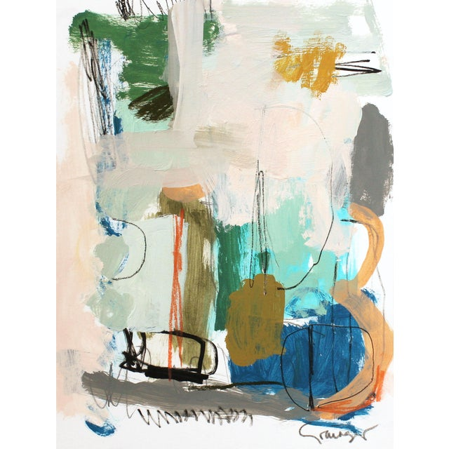 """Abstract Lesley Grainger """"Hump Day Treat"""" Original Abstract Painting For Sale - Image 3 of 3"""
