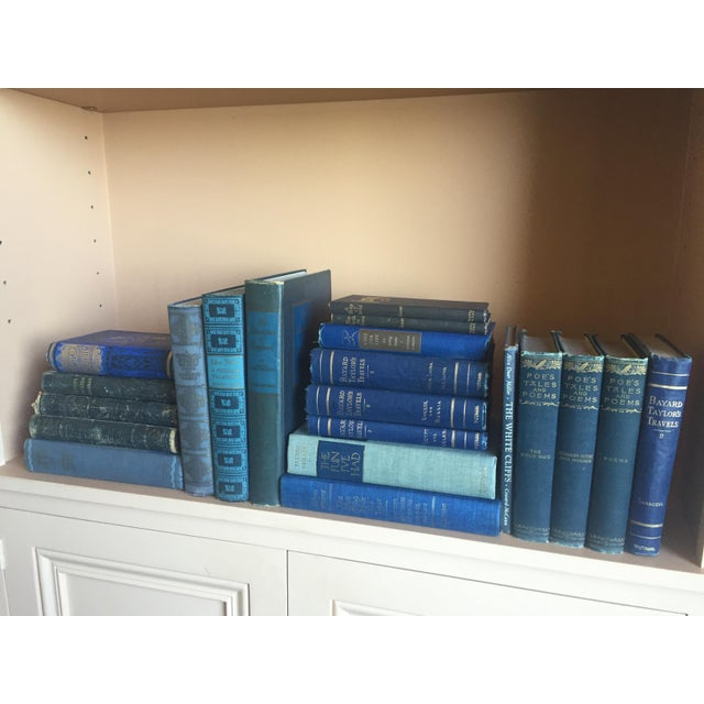 Collection of Blue Antique Books - Set of 21 - Image 2 of 4
