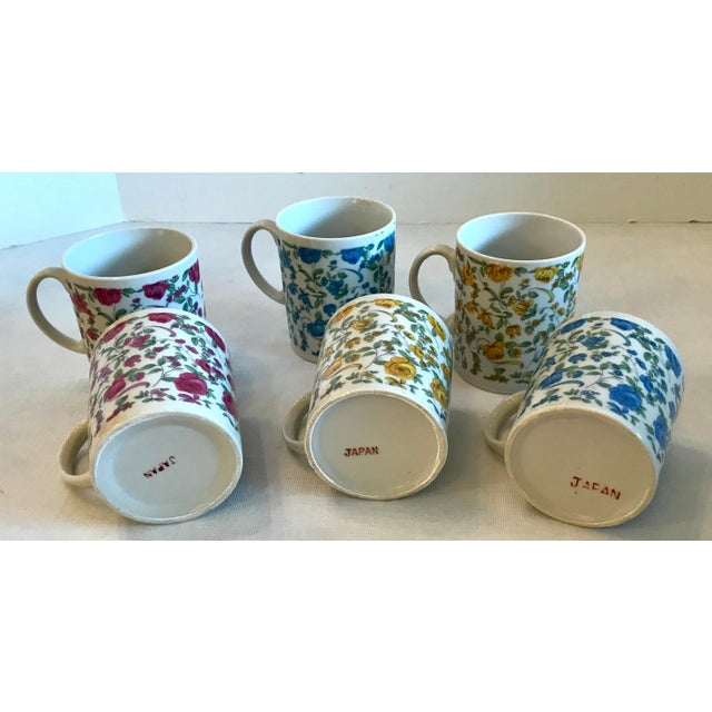 Red Vintage Japanese Ceramic Tea or Coffee Mugs - Set of 6 For Sale - Image 8 of 12