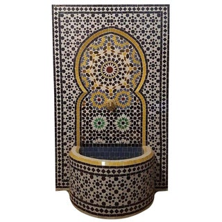 Meknes Moroccan Mosaic Fountain For Sale
