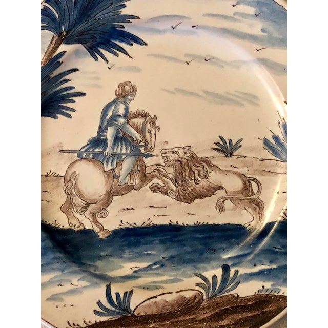 Empire 18th Century Niderviller Faience Plate For Sale - Image 3 of 5