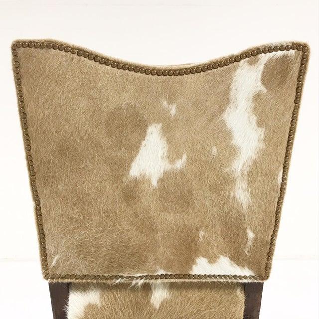 1770s Antique Italian Walnut Armchair Restored in Brazilian Cowhide - Image 6 of 10