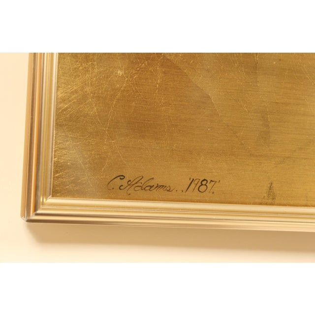 La Barge Chinoiserie Style Mirror, Signed C. Adams For Sale - Image 12 of 13