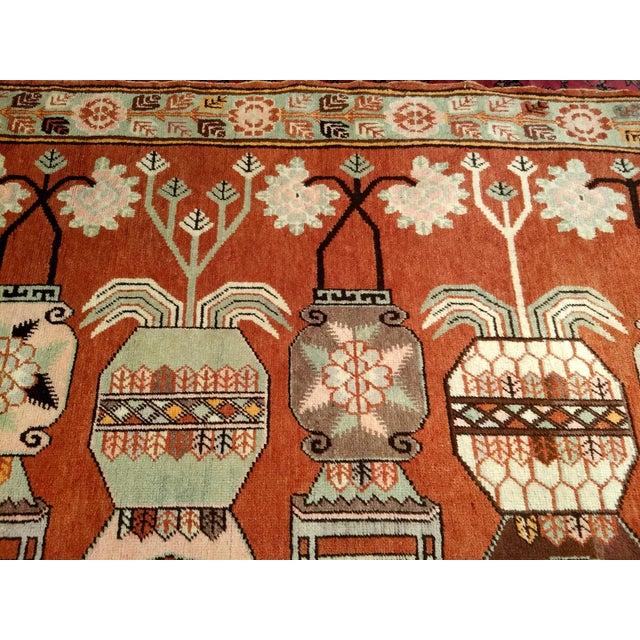 Vintage Khotan Vase Carpet - 5′ × 8′ For Sale - Image 9 of 13
