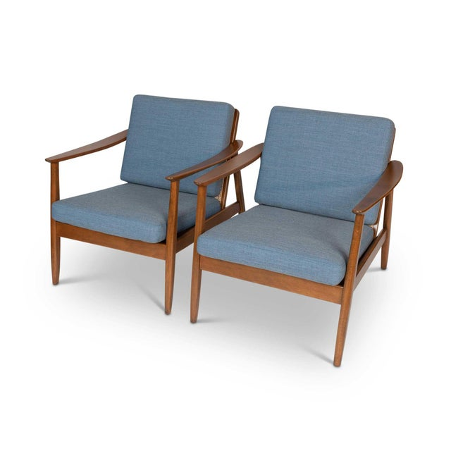 1960s Pair of Folke Ohlsson / Dux Lounge Chairs For Sale - Image 5 of 12