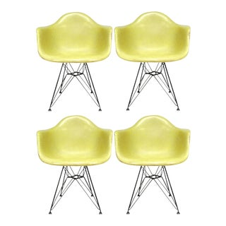 Set of Four Eames Zenith DAR Armchairs by Herman Miller For Sale