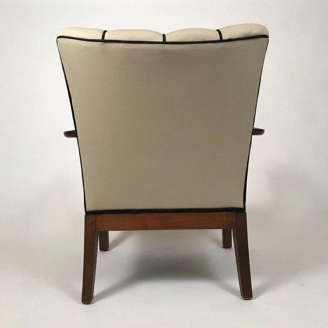 Danish Modern Mahogany Armchairs - A Pair For Sale - Image 4 of 6