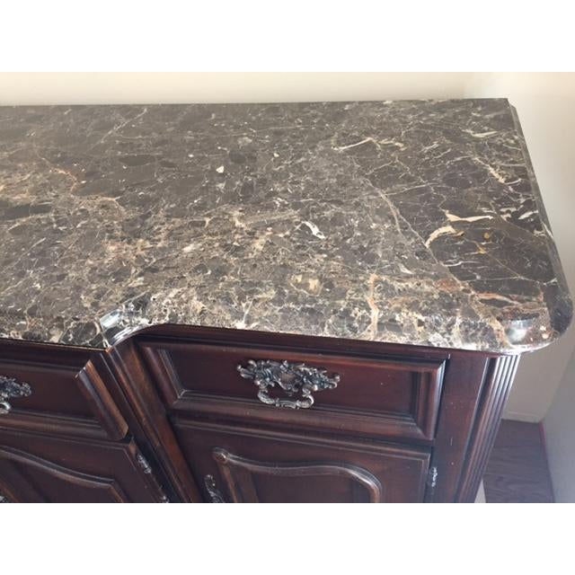 Marble Granite Top Dining Room Buffet Sideboard By Bernhardt