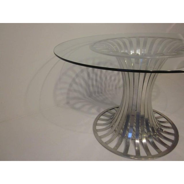 1950s Russell Woodard Aluminium and Glass Dining Table For Sale - Image 5 of 8