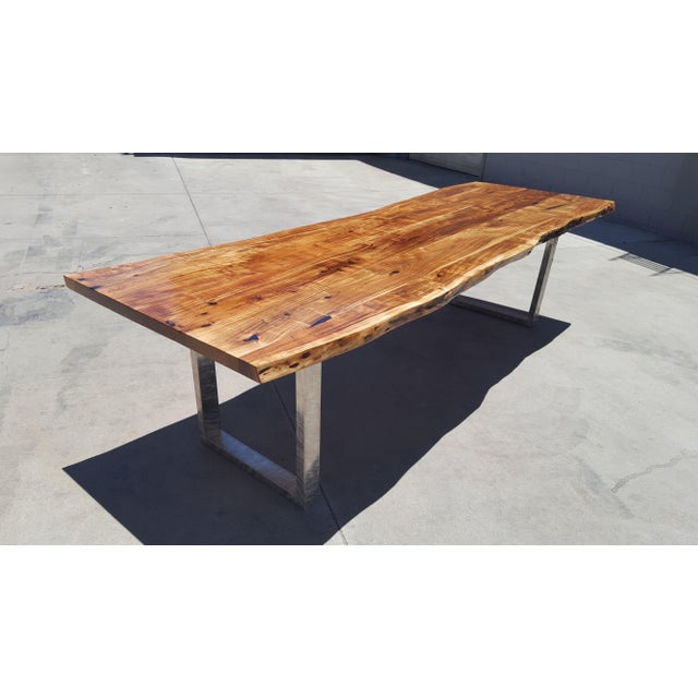 Acacia Wood Live Edge Dining Table - Image 2 of 8