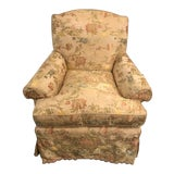 Image of Magnificently Upholstered Overstuffed Armchair on Casters by O Henry House For Sale
