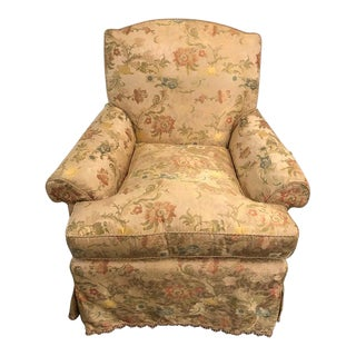 Magnificently Upholstered Overstuffed Armchair on Casters by O Henry House For Sale