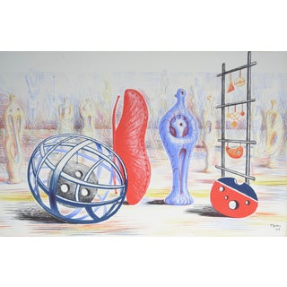 "Henry Moore ""Sculptural Objects"" Original Color Lithograph For Sale"