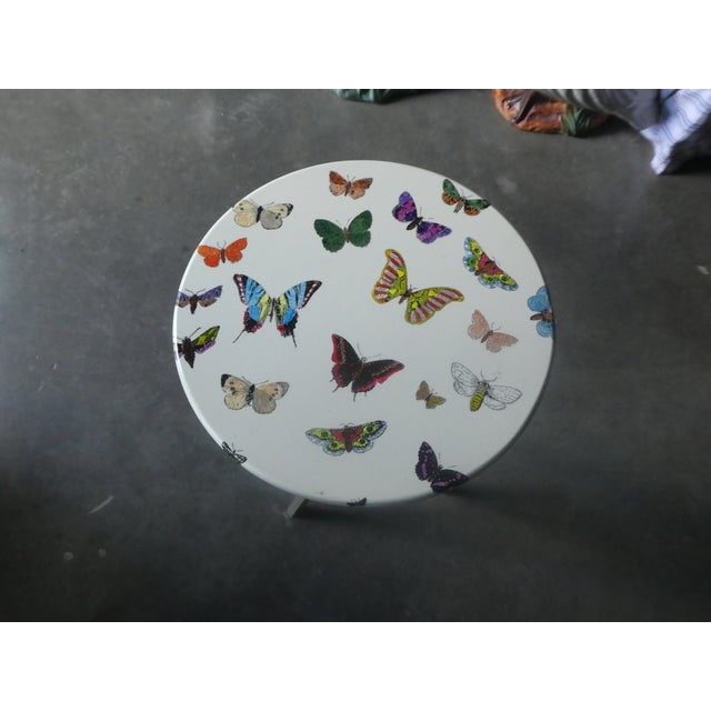Mid-Century Modern 1960s Mid-Century Modern Fornasetti Butterfly Side Table For Sale - Image 3 of 9