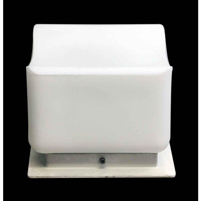 Contemporary Lumenform White Opaline Semi-Flush Light For Sale - Image 3 of 8