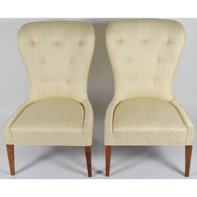 Mid-Century Modern Modern Balloon Back Chairs- a Pair For Sale - Image 3 of 6