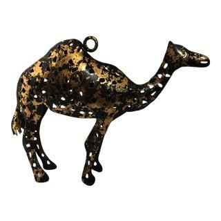 Vintage Gilt Tole Camel Figurine