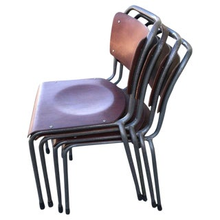 1960s Vintage Industrial Chairs - Set of 4