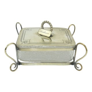 Austrian Sardine Covered Dish, C.1900 For Sale