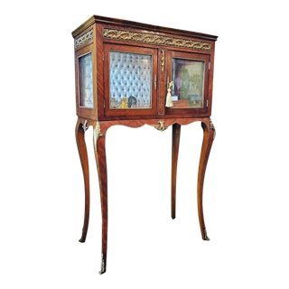19th Century French Boudoir Vitrine For Sale