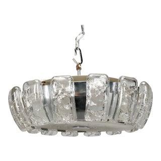 Kalmar Mid-Century Icicle Glass Flush Mount Light Fixture For Sale
