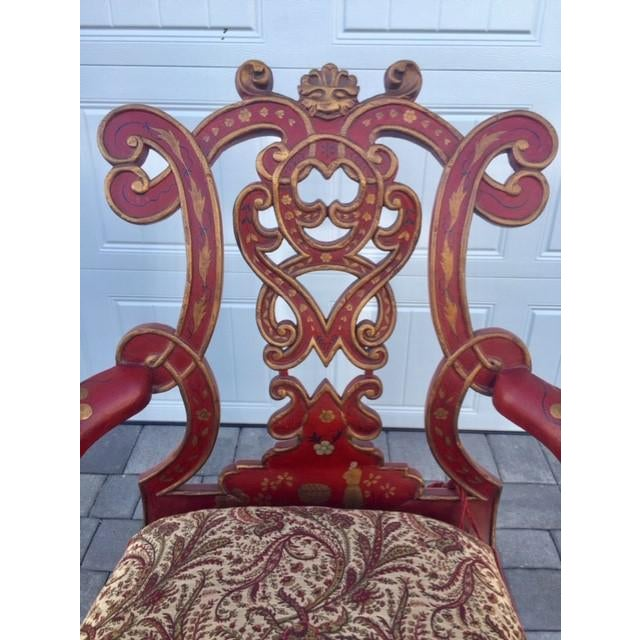 the exuberance of the Venetian Republic is captured in the design of this chair; a truly memorable accent piece for a...