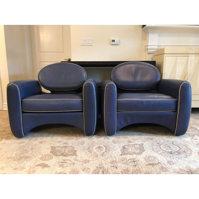 Emiel Veranneman Mid-Century Modern Osaka Leather Club Chairs - a Pair For Sale - Image 13 of 13