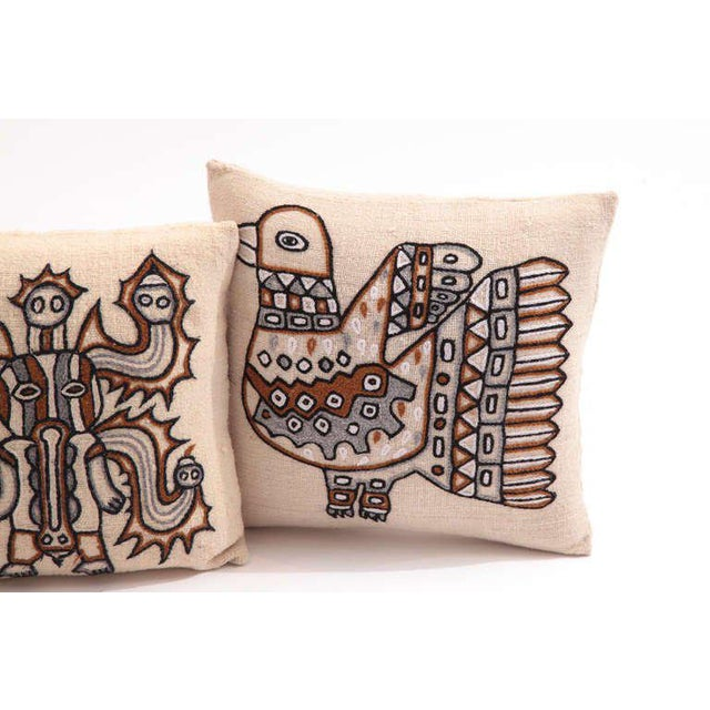 Textile Embroidered Peruvian Pillows - Set of 4 For Sale - Image 7 of 8