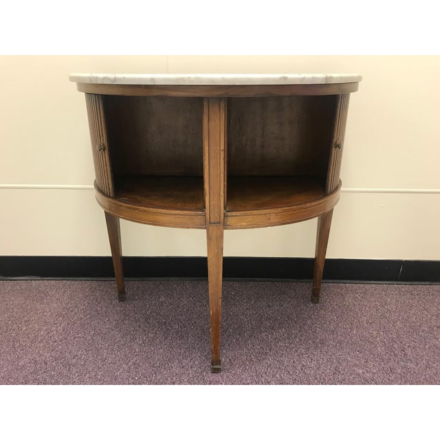 20th Century French Demi Table with Marble Top For Sale - Image 4 of 9
