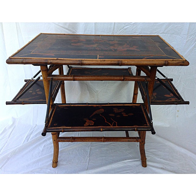 Chinoiserie Black Lacquered Table - Image 2 of 6