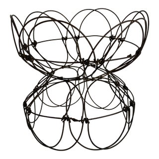 French Collapsible Wire Basket For Sale