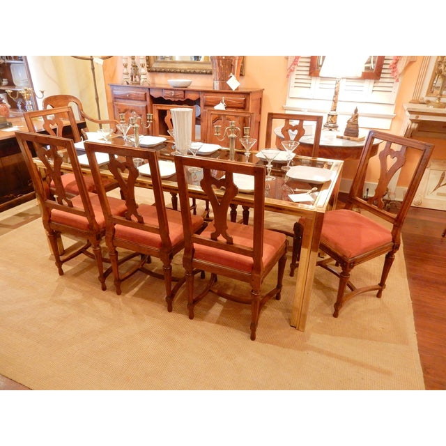 Wood 19th Century Louis XVI Walnut Dining Chairs - Set of 8 For Sale - Image 7 of 9