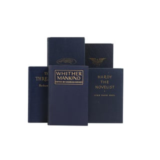 Mid Century Navy & Gilt Mixed Books - Set of 20 Preview