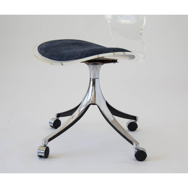 Hill Manufacturing Co. Lucite Rolling Desk Chair - Image 7 of 9