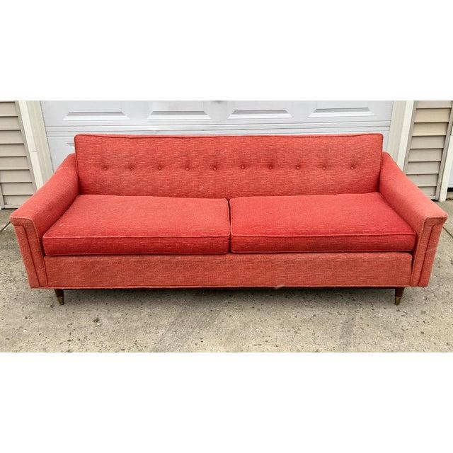 Vintage Kroehler Mid-Century Pink Sofa - Image 3 of 10 - Vintage Kroehler Mid-Century Pink Sofa Chairish