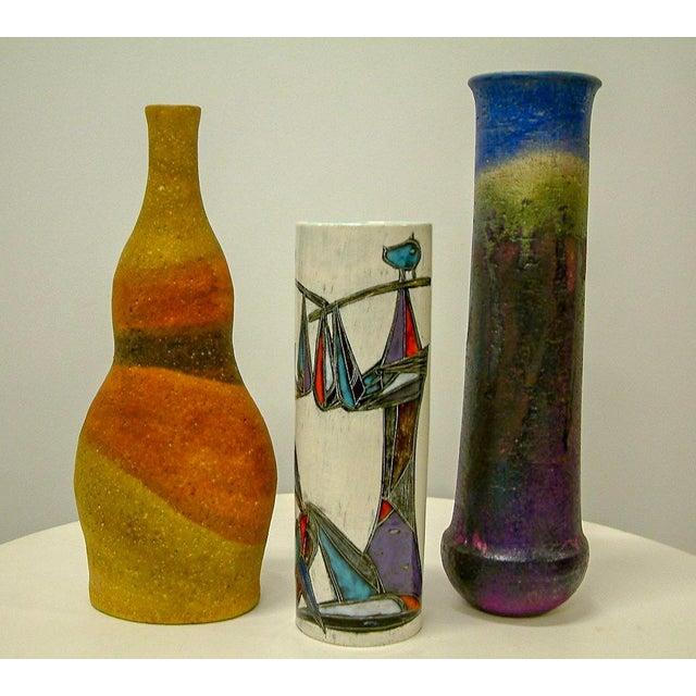 Marcello Fantoni Circa 1950 Mid-Century Modern Marcello Fantoni Ceramic Vases - Set of 3 For Sale - Image 4 of 8