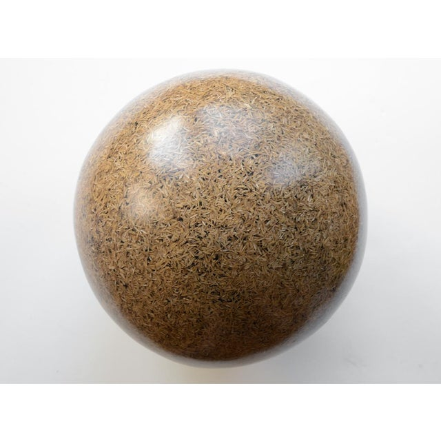 Rice Husk Lucite Sphere Sculpture For Sale In San Francisco - Image 6 of 7