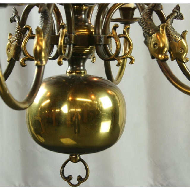 Vintage Flemish Mermaid Chandelier 1950 Belgium For Sale - Image 4 of 5