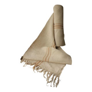 Eco-Friendly Organic Washed Linen Hemp Grain Sack - 6.9 Yards For Sale