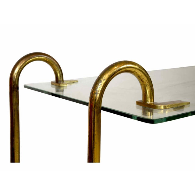 Art Deco Gio Ponti - Trolley in Glass and Brass - Circa 1930 For Sale - Image 3 of 5