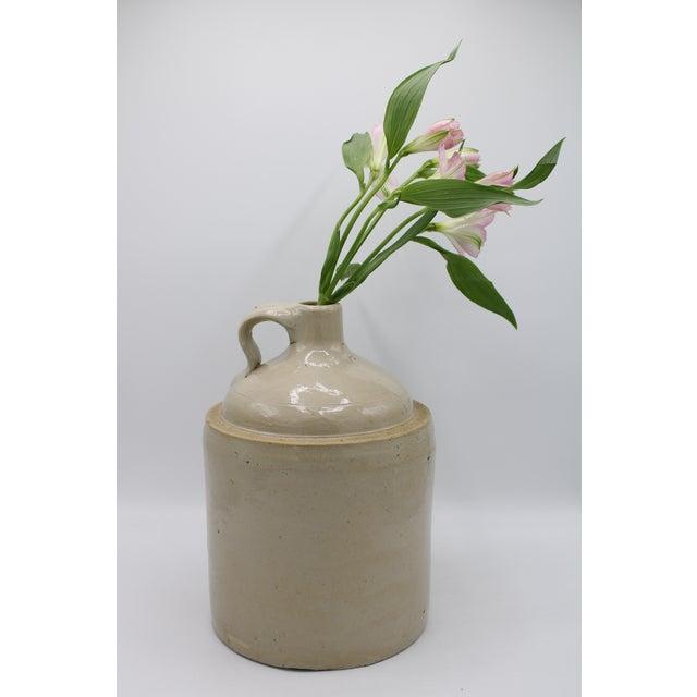 Antique Stoneware Farmhouse Crock Jugs - a Pair For Sale - Image 4 of 10