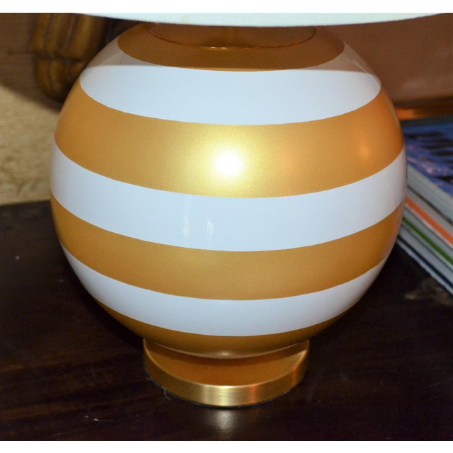 Contemporary Gold & Cream Kate Spade Table Lamp For Sale - Image 3 of 10